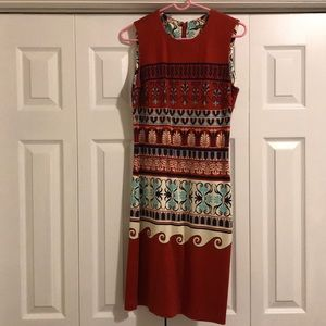 Size small J McLaughlin red print dress